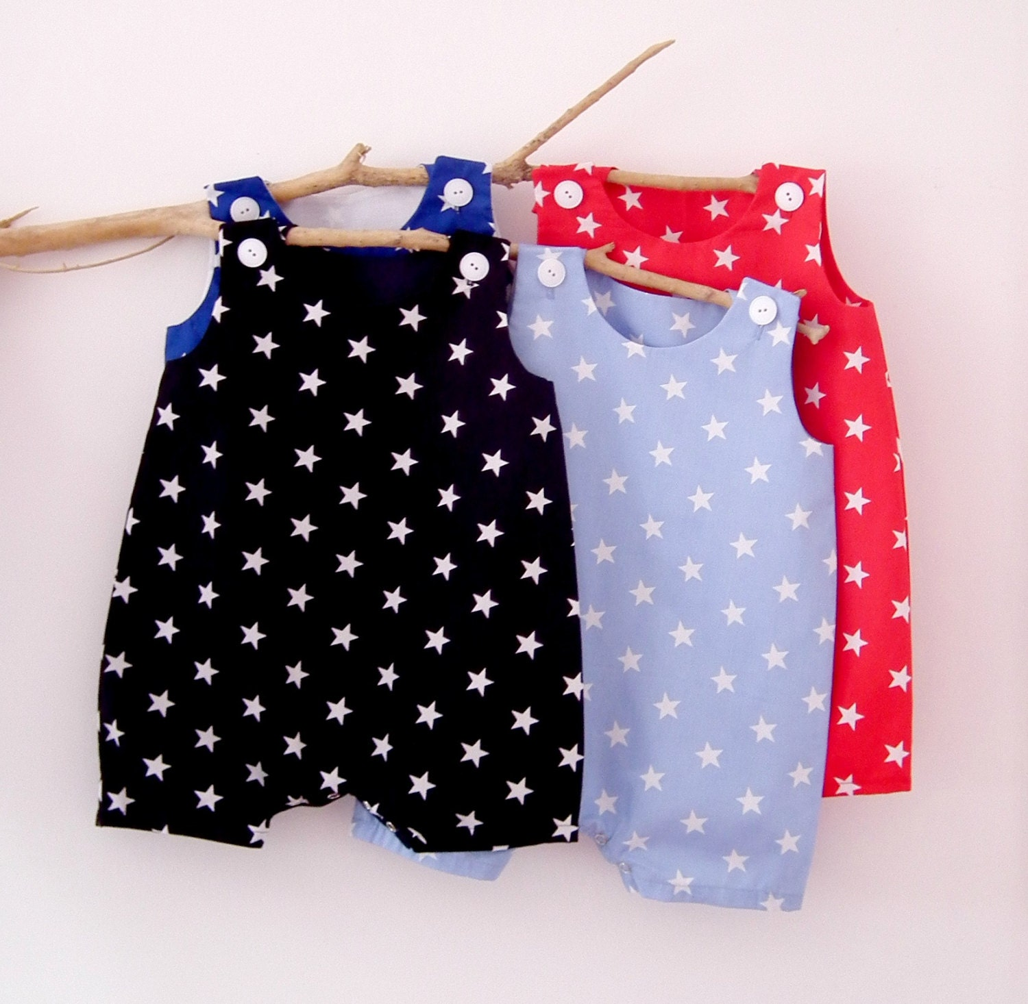 All in e Baby Boy Clothes Rompers 4th of July Stars and