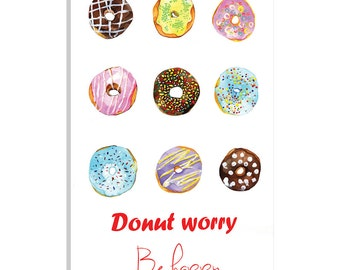 iCanvas Do Not Worry Be Happy Gallery Wrapped Canvas Art Print by Rongrong DeVoe