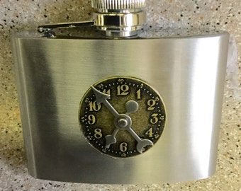 Stainless Steampunk Four Ounce Flask