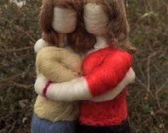 Custom! Mother and child needle felted figure made to your specifications