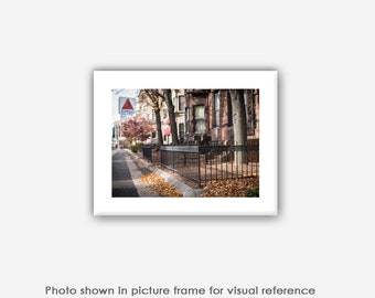 Boston Photography, Citgo Sign, Commonwealth Avenue Mall, Brownstones, City Prints, Photos, Blank Photo Greeting Card, Photo Note Card