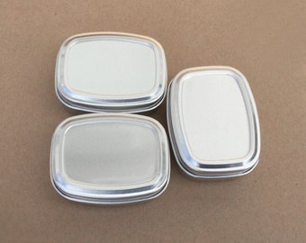 50ml Metal Tins, Blank Container In Silver Colour, Small Organizer, Set Of 50 Metal Tins