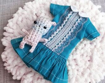 Cloud dress / Blythe dress / Blythe / Blythe outfit / Blythe clothes / Doll dress / Dress for Blythe / Blythe Spring / Blythe summer
