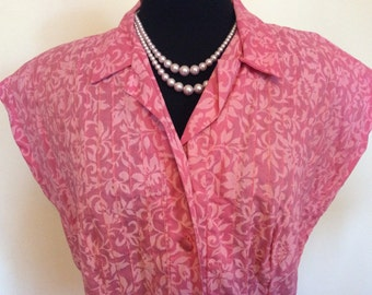 Vintage Pink Dress - XL