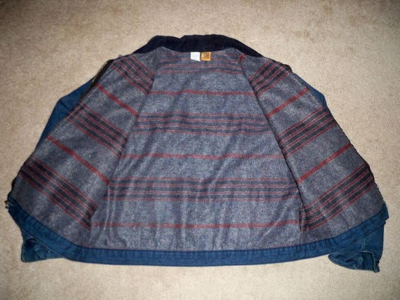USA 50 Blanket Size Barn Canvas Lined Jacket Chore Big Vintage Men's in Made Coat Ben Flannel 4ZfqxWOHw