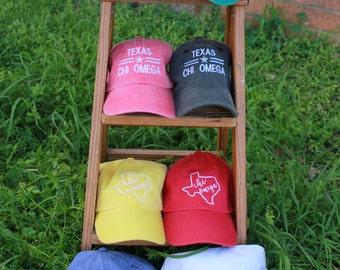 Chi Omega caps
