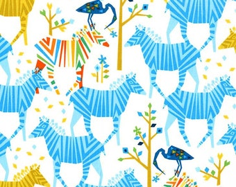 Michael Miller Origami Oasis Show Your Colors Blue fabric - 1 yard