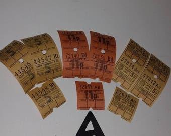 A 15 British English Bus tickets Vintage paper old ephemera lot altered art mixed media scrapbook supplies