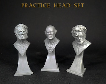 Practice heads series 1. 1/10 scale resin busts. Academic  practice, Painting, Model, Sculpture, Modelling