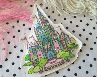 Pastel Fantasy Castle Badge