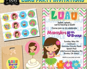 Luau Party Invitations,Hawaiian Invitations,Aloha Invitations,Luau Invitations,Luau Party,Aloha Party,Aloha favors,Hawaiian Party,Aloha,Luau