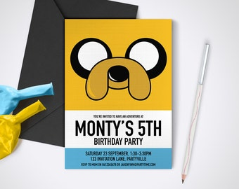 Adventure Time Finn printable party invite Edit and print