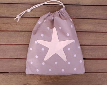Drawstring bag, Small pouch, Lined bag, Waterproof lining, Lingerie bag, Clothing bag, Child pouch, Travel bag, Size S