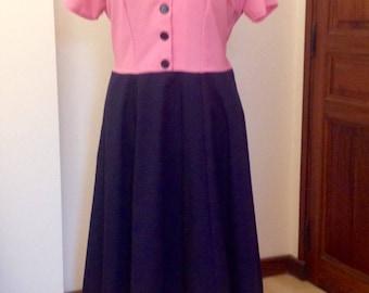 Miss Mabel Original Vintage style handmade dress size 22