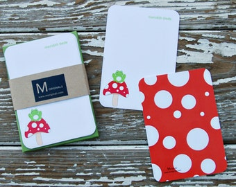 Personalized Notecards - Set of 8 - Froggy