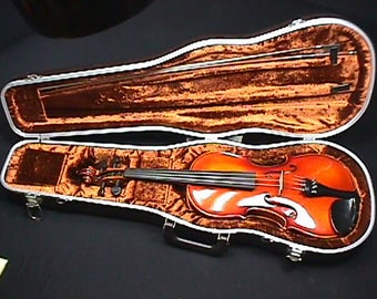Vintage 1985 E.R. Pfretzschner Violin, Bow & Case Ready to Play