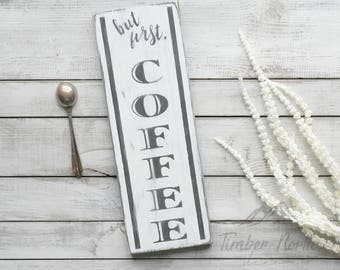 coffee wood sign, coffee bar sign, coffee sign, coffee bar decor, custom wood signs, home decor, farmhouse style, welcome home sign, kitchen