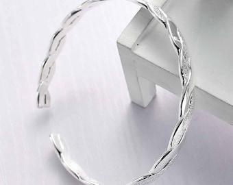 1 silver 19 cm - creating jewelry - SC78297 open Bangle bracelet