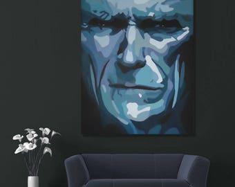 Portrait de Clint Eastwood. Acrylic on canvas