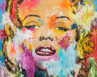 Marilyn Monroe Big Painting 140x100cm