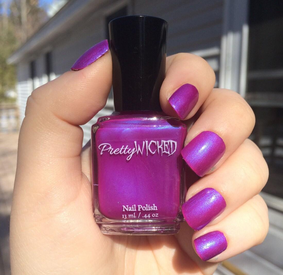 Magenta Nail Polish, Margo Polish, Purple Nail Polish, Pink Nail ...