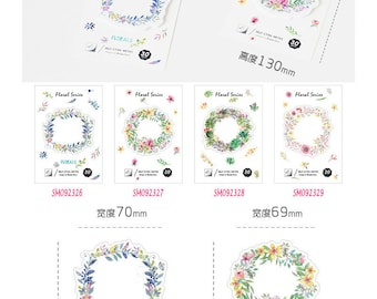 Floral Wreath Post IT Notes Sticky Memo