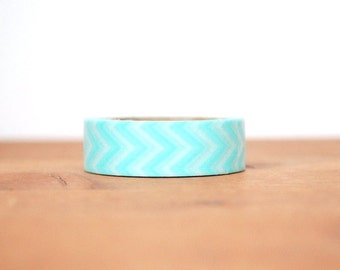 washi tape: turquoise blue and white chevrons
