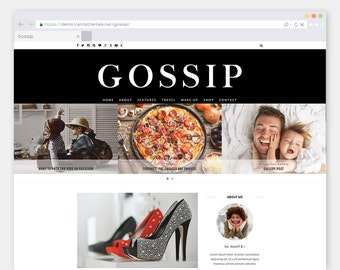 "WordPress Theme ""Gossip"" Magazine Blog 