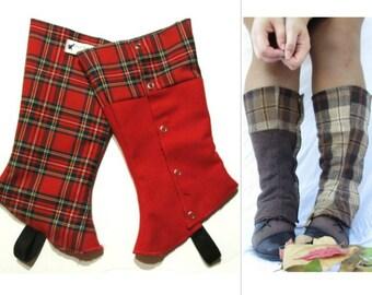 Spats Reversible Boot Sherlock Holmes Gaiters women spat long and wool boots spat men costume