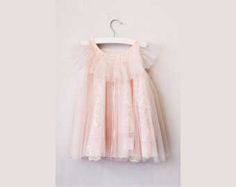 Esther Blush First Birthday Dress, First Birthday Baby Girl dress, First Birthday outfit