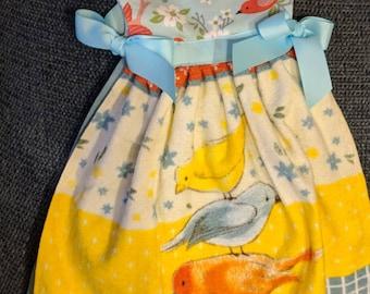 Birds oven dish towel dress