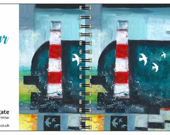 Harbour Light spiral-bound square notebook - plain inside