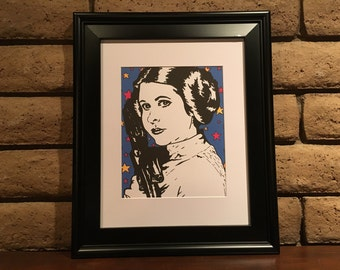 PRINCESS LEIA - Sharpie art digital download