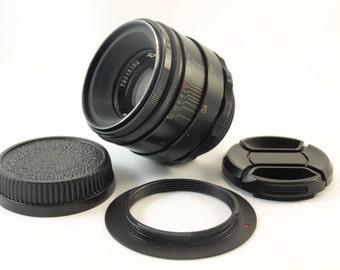 Helios 44-2 For Nikon adapted Lens INFINITY IS! 2/58 mm f/2 M42 58mm Russian Soviet USSR Vintage Portrait Bokeh Slr lens D5100 D5200 D5300