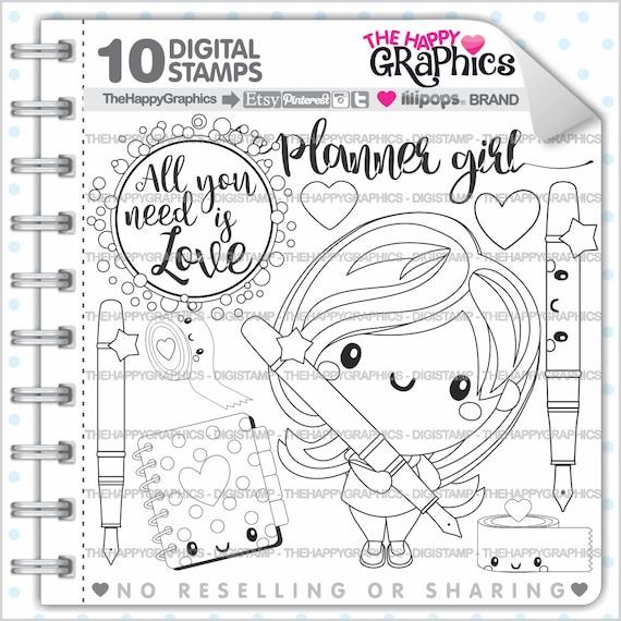 Planner Girl Stamps 80OFF Commercial Use Digi Stamp
