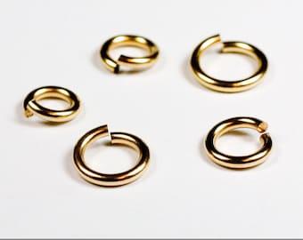 42 pcs 18g gold fill sampler pack 1 jump rings 18 gauge 18gsamp2 14k gold filled rings findings links