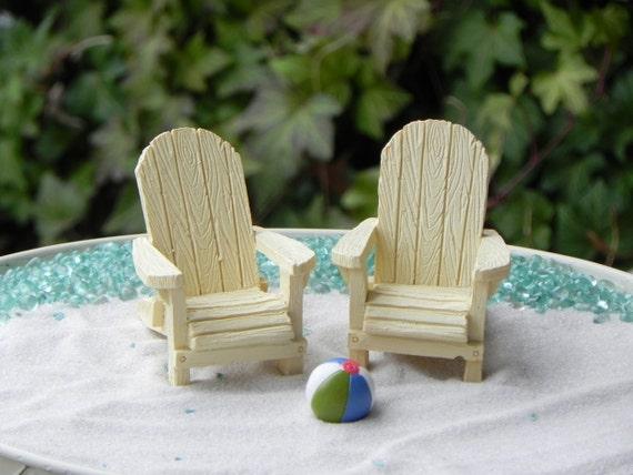 Marvelous Miniature Adirondack Chair, Cream Off White, Fairy Beach Garden Supply,  Coastal Accessories, Miniature Beach Chair, Fairy Garden Supplies From ...