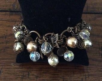 Natural Brass Cha Cha Handmade Bracelet