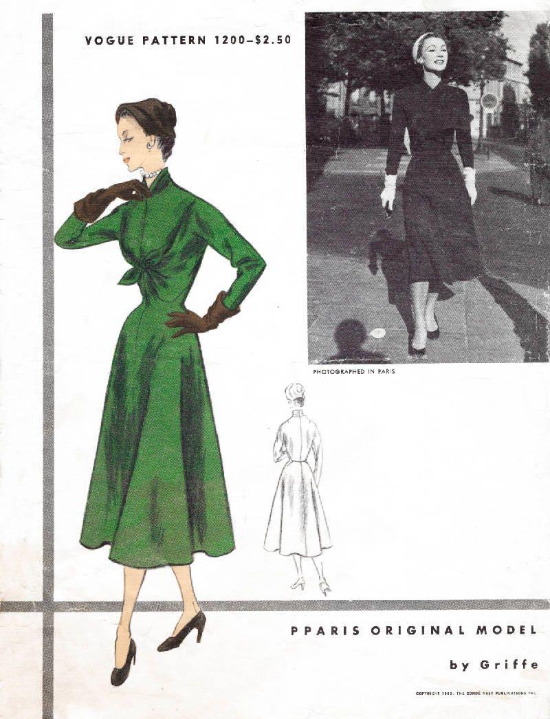1950er Jahre 50er Jahre Kleid Muster Reproduktion / / Sanduhr