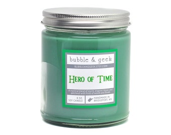 Hero of Time Scented Soy Candle Jar