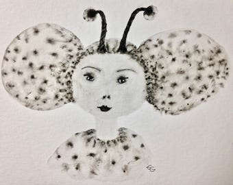 The Queen Ant, ink and wash