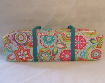 Cricut Expression Carrying Case / Silhouette Cameo 1 Carrying Case / Silhouette Cameo 2 / Turquoise and Pink Flower Print
