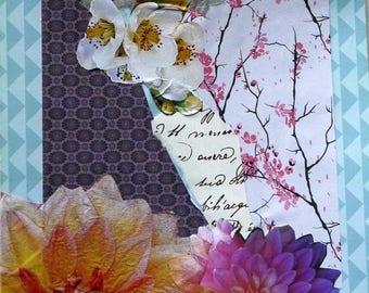 Birthday, anniversary, Shabby chic thank you card