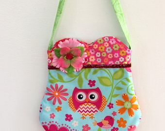 Owl in the Forest purse, girls purse, toddler purse,