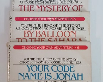 Books- Choose Your Own Adventure, Set of 3