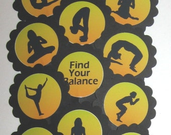 Yoga Cupcake Toppers/Party Picks Item #980