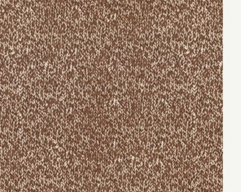 Texture Sock Brown Cotton Fabric - Moda - SALE Remnant