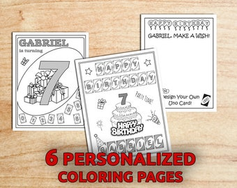 Uno Birthday Party Coloring pages / Uno Party / ANY AGE /Digital File / Printable / PDF