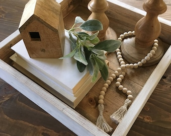 Farmhouse Decor, Decorative Tray, Rustic, Wooden, Coffee Table, Mother's Day Gift