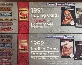 TSR 1991 1992 Advance Dungeons and Dragons AD&D Card Factory Sets